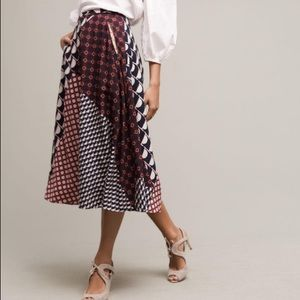 Anthropologie HD in Paris Patchwork Midi Skirt 8